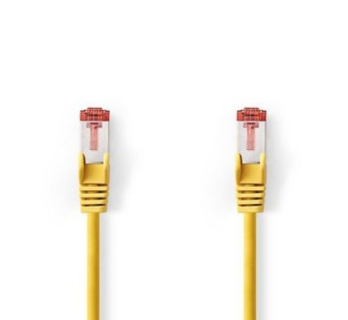 Nedis CAT6-kabel | RJ45 (8P8C) Male | RJ45 (8P8C) Male | SF/UTP | 0.20 m | Rond | PVC LSZH | Geel | Polybag