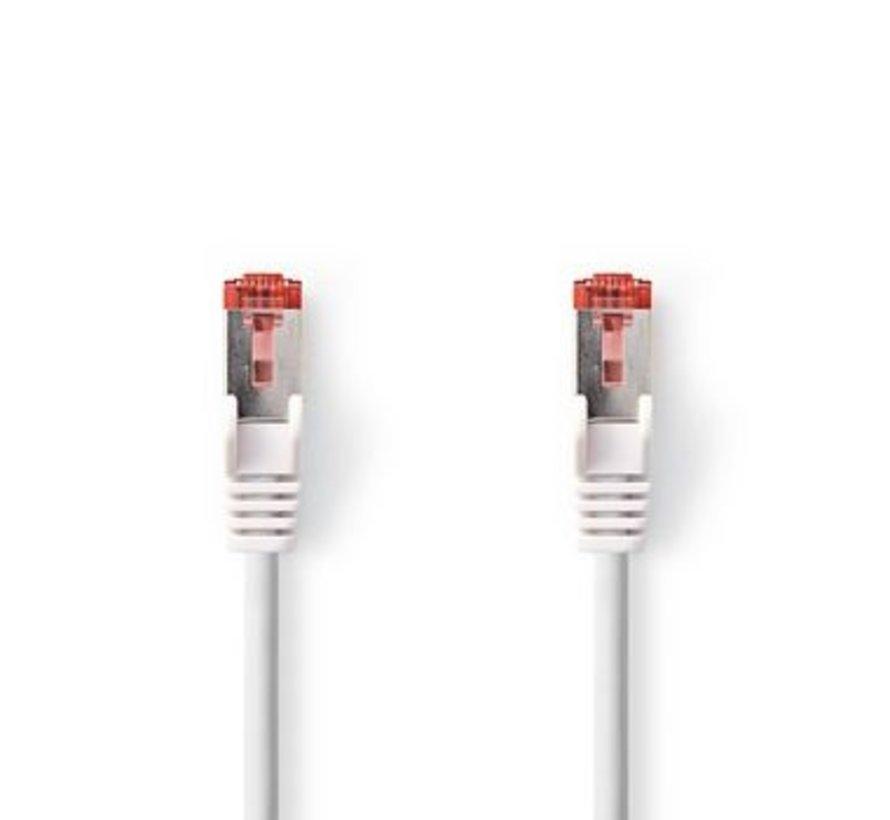 CAT6-kabel | RJ45 (8P8C) Male | RJ45 (8P8C) Male | SF/UTP | 5.00 m | Rond | PVC LSZH | Wit | Polybag