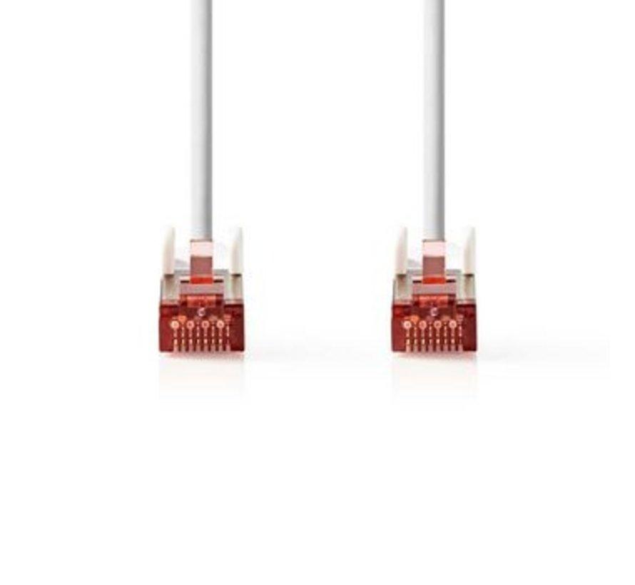 CAT6-kabel | RJ45 (8P8C) Male | RJ45 (8P8C) Male | SF/UTP | 2.00 m | Rond | PVC LSZH | Wit | Polybag