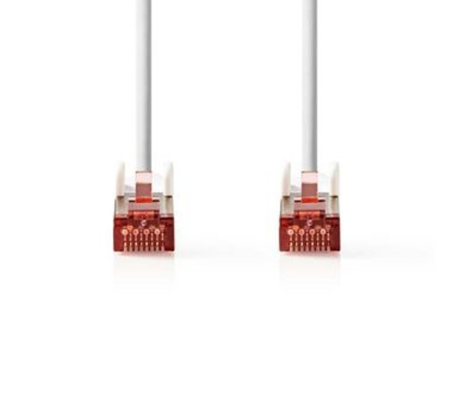 CAT6 S/FTP-Netwerkkabel | RJ45 Male - RJ45 Male | 0,15 m | Wit