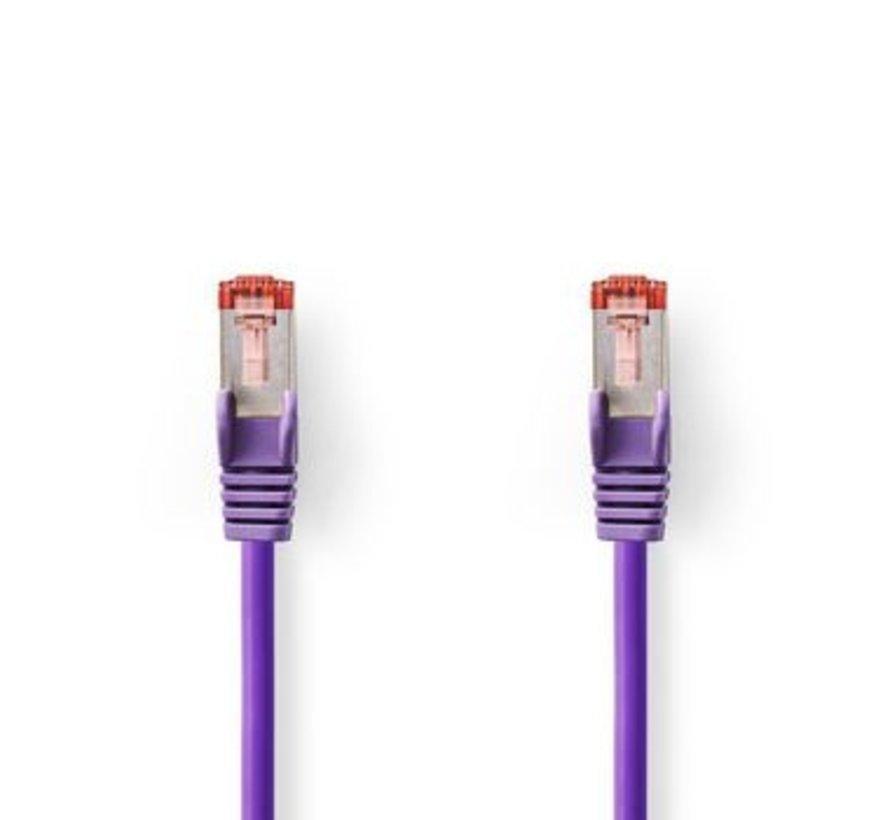 CAT6-kabel | RJ45 (8P8C) Male | RJ45 (8P8C) Male | SF/UTP | 30.0 m | Rond | PVC LSZH | Violet | Polybag