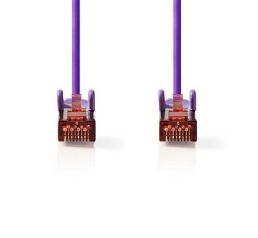 CAT6 S/FTP-Netwerkkabel | RJ45 Male - RJ45 Male | 1,5 m | Paars