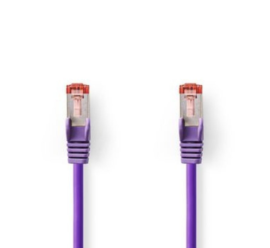 CAT6 S/FTP-Netwerkkabel | RJ45 Male - RJ45 Male | 1,0 m | Paars