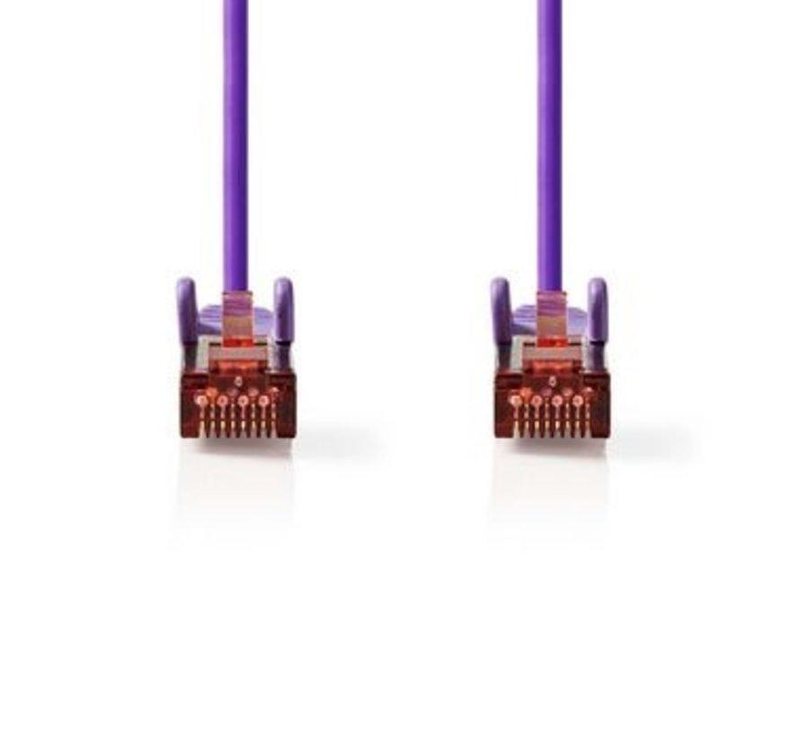 CAT6 S/FTP-Netwerkkabel | RJ45 Male - RJ45 Male | 0,5 m | Paars