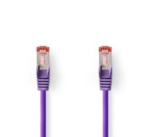 Nedis CAT6 S/FTP-Netwerkkabel | RJ45 Male - RJ45 Male | 0,25 m | Paars