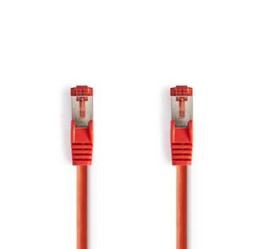 CAT6 S/FTP-Netwerkkabel | RJ45 Male - RJ45 Male | 0,5 m | Rood