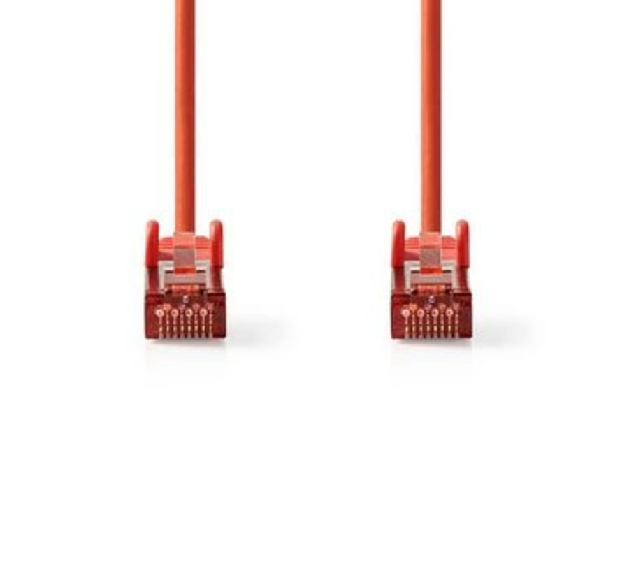 CAT6-kabel | RJ45 (8P8C) Male | RJ45 (8P8C) Male | SF/UTP | 0.30 m | Rond | PVC LSZH | Rood | Polybag