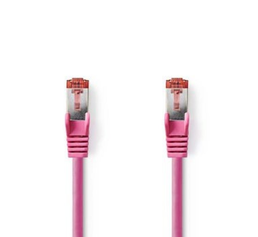 CAT6 S/FTP-Netwerkkabel   RJ45 Male - RJ45 Male   5,0 m   Roze