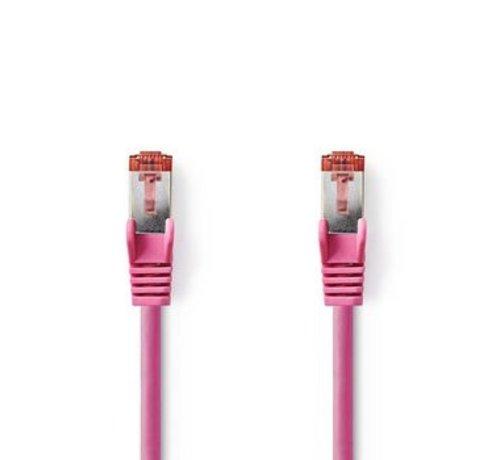 Nedis CAT6-kabel | RJ45 (8P8C) Male | RJ45 (8P8C) Male | SF/UTP | 0.50 m | Rond | PVC LSZH | Roze | Polybag