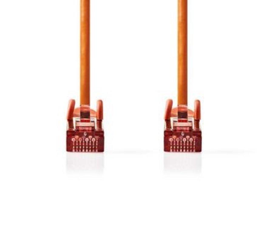 CAT6-kabel | RJ45 (8P8C) Male | RJ45 (8P8C) Male | SF/UTP | 7.50 m | Rond | PVC LSZH | Oranje | Polybag