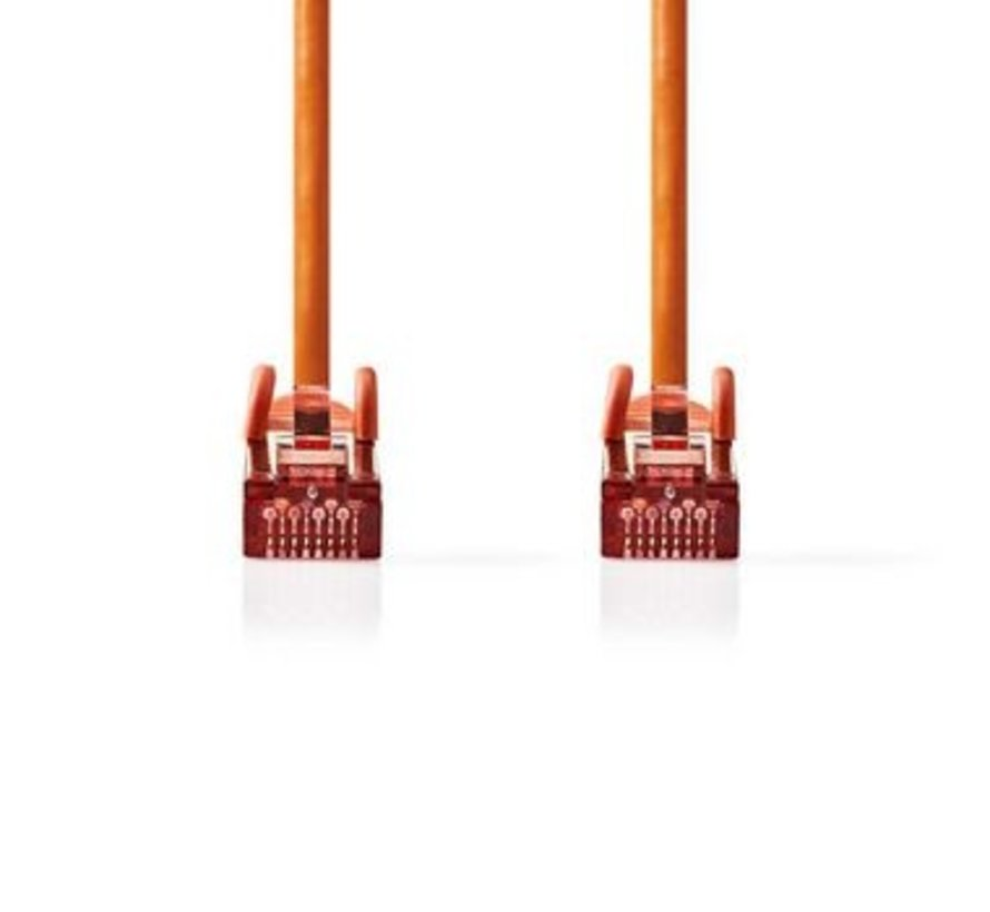 CAT6 S/FTP-Netwerkkabel | RJ45 Male - RJ45 Male | 15 m | Oranje