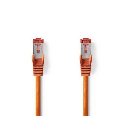 Nedis CAT6-kabel | RJ45 (8P8C) Male | RJ45 (8P8C) Male | SF/UTP | 0.50 m | Rond | PVC LSZH | Oranje | Polybag