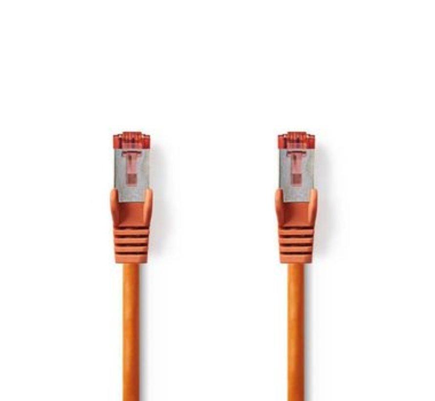 CAT6-kabel | RJ45 (8P8C) Male | RJ45 (8P8C) Male | SF/UTP | 0.50 m | Rond | PVC LSZH | Oranje | Polybag