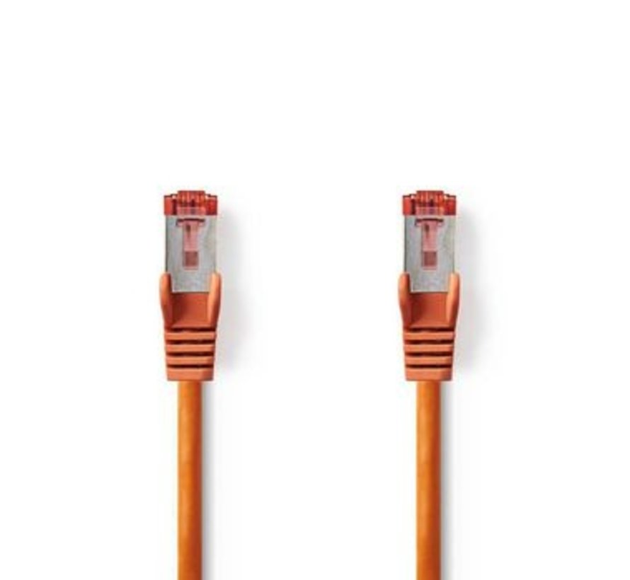 CAT6-kabel | RJ45 (8P8C) Male | RJ45 (8P8C) Male | SF/UTP | 0.30 m | Rond | PVC LSZH | Oranje | Polybag