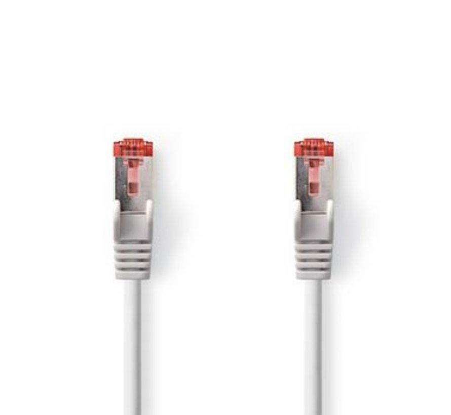 CAT6-kabel | RJ45 (8P8C) Male | RJ45 (8P8C) Male | SF/UTP | 30.0 m | Rond | PVC LSZH | Grijs | Polybag