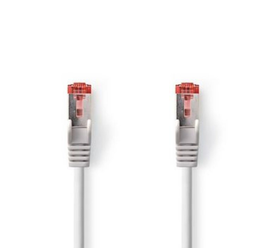 CAT6 S/FTP-Netwerkkabel | RJ45 Male - RJ45 Male | 0,5 m | Grijs