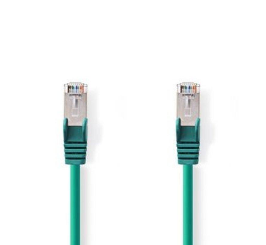 CAT6-kabel | RJ45 (8P8C) Male | RJ45 (8P8C) Male | SF/UTP | 30.0 m | Rond | PVC LSZH | Groen | Polybag