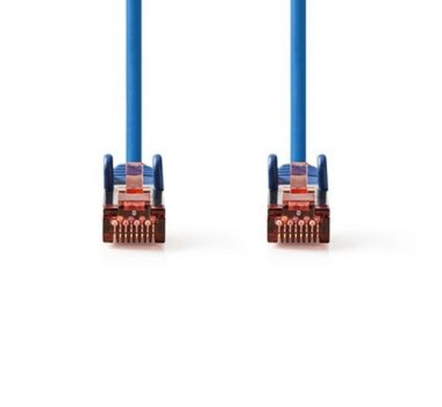 CAT6-kabel   RJ45 (8P8C) Male   RJ45 (8P8C) Male   SF/UTP   3.00 m   Rond   PVC LSZH   Blauw   Polybag