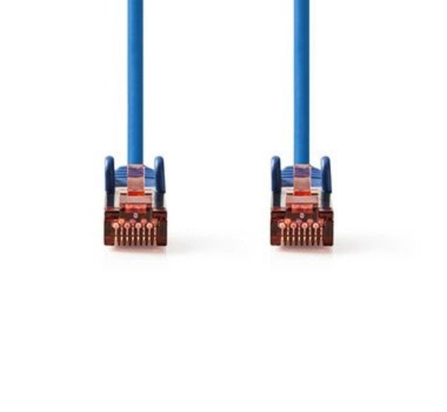 CAT6-kabel | RJ45 (8P8C) Male | RJ45 (8P8C) Male | SF/UTP | 1.50 m | Rond | PVC LSZH | Blauw | Polybag