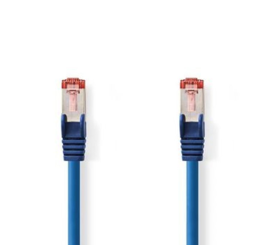 CAT6-kabel | RJ45 (8P8C) Male | RJ45 (8P8C) Male | SF/UTP | 0.20 m | Rond | PVC LSZH | Blauw | Polybag
