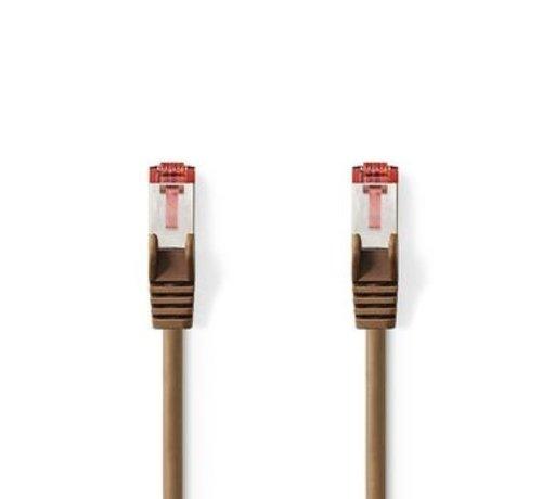 Nedis CAT6 S/FTP-Netwerkkabel | RJ45 Male - RJ45 Male | 0,5 m | Bruin