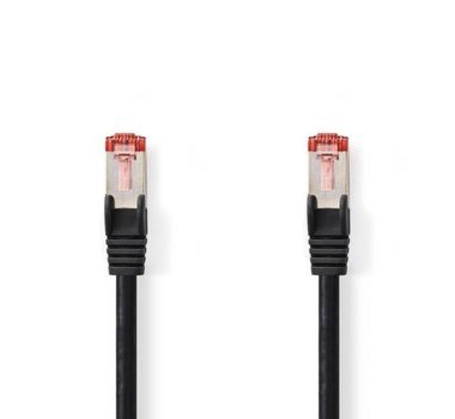 CAT6 S/FTP-Netwerkkabel | RJ45 Male - RJ45 Male | 0,15 m | Zwart