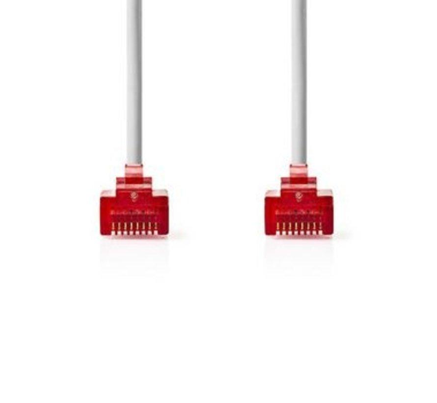 CAT6 UTP Platte Netwerkkabel | RJ45 Male - RJ45 Male | 1,0 m | Wit