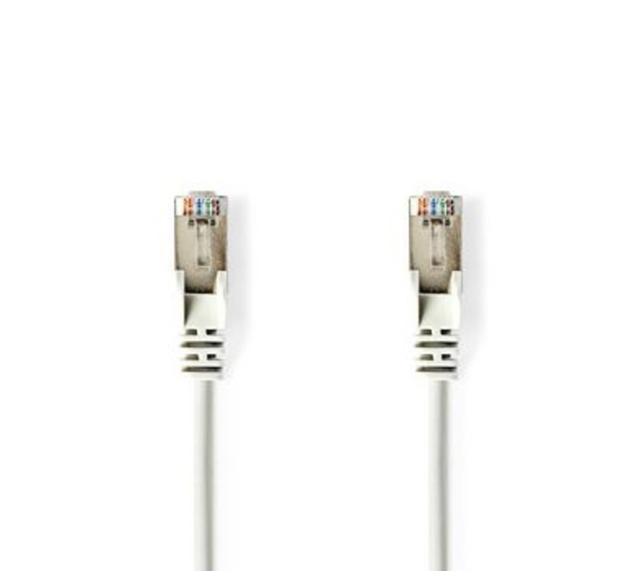 CAT6-kabel | RJ45 (8P8C) Male | RJ45 (8P8C) Male | UTP | 1.00 m | Rond | PVC | Wit | Polybag