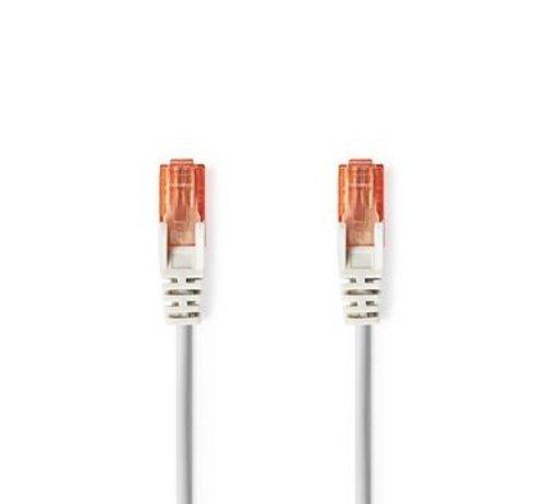Nedis CAT6-kabel | RJ45 (8P8C) Male | RJ45 (8P8C) Male | UTP | 1.00 m | Rond | PVC | Grijs | Polybag