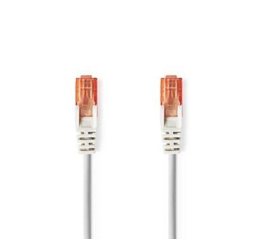 CAT6-kabel | RJ45 (8P8C) Male | RJ45 (8P8C) Male | UTP | 1.00 m | Rond | PVC | Grijs | Polybag