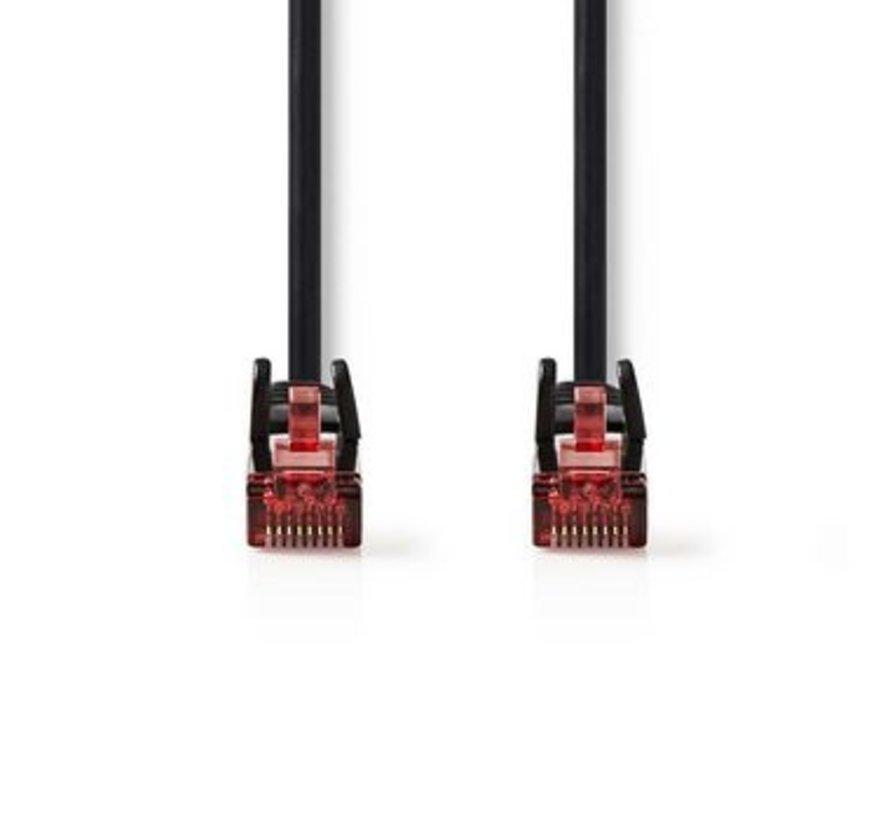CAT6-kabel | RJ45 (8P8C) Male | RJ45 (8P8C) Male | UTP | 5.00 m | Rond | PVC | Zwart | Polybag