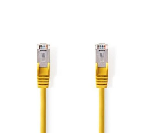 Nedis CAT5e-Kabel | SF/UTP | RJ45 (8P8C) Male | RJ45 (8P8C) Male | 0.50 m | Rond | PVC | Geel | Polybag
