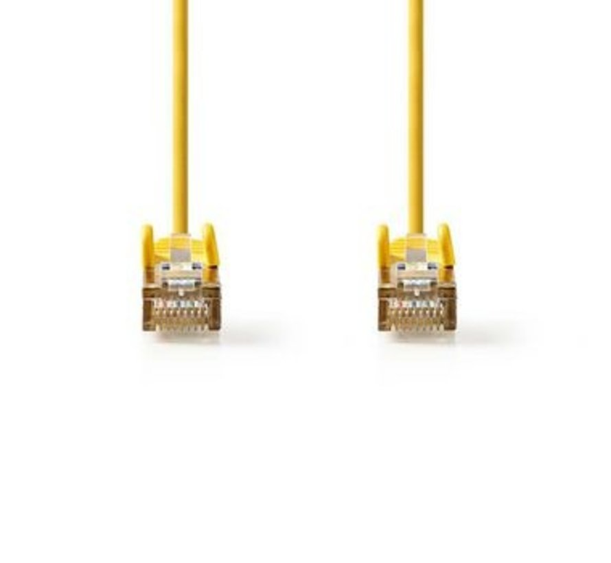 CAT5e SF/UTP-Netwerkkabel | RJ45 Male - RJ45 Male | 0,25 m | Geel