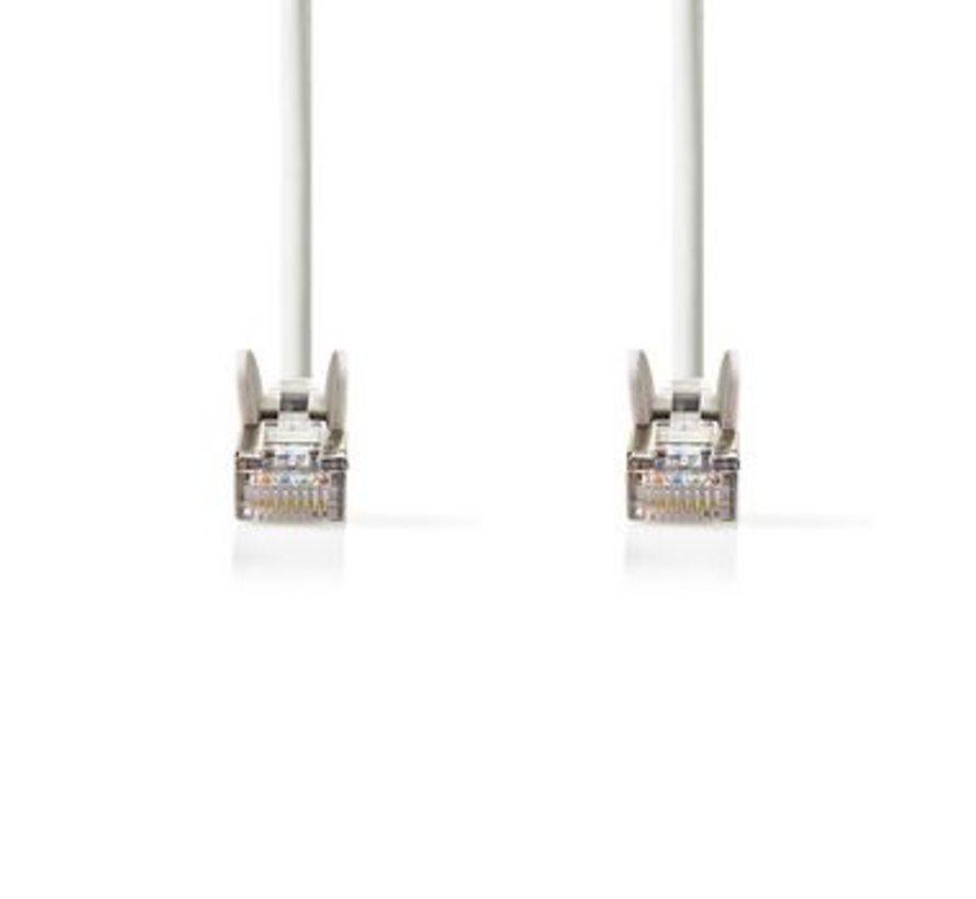 CAT5e-Kabel | SF/UTP | RJ45 (8P8C) Male | RJ45 (8P8C) Male | 20.0 m | Rond | PVC | Wit | Polybag