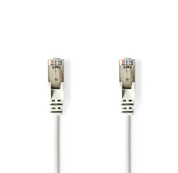 Nedis CAT5e-Kabel | SF/UTP | RJ45 (8P8C) Male | RJ45 (8P8C) Male | 0.30 m | Rond | PVC | Wit | Polybag