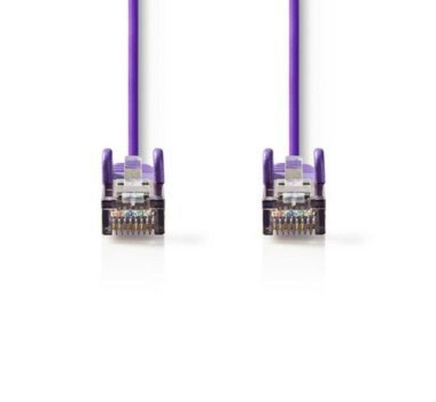 CAT5e SF/UTP-Netwerkkabel | RJ45 Male - RJ45 Male | 0,25 m | Paars