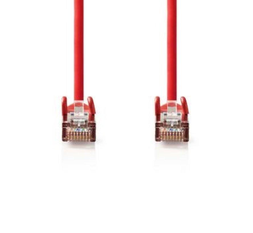 CAT5e-Kabel | SF/UTP | RJ45 (8P8C) Male | RJ45 (8P8C) Male | 7.50 m | Rond | PVC | Rood | Polybag