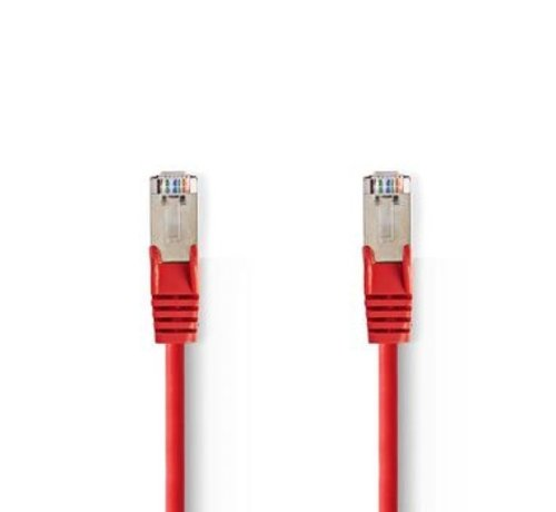 Nedis CAT5e-Kabel | SF/UTP | RJ45 (8P8C) Male | RJ45 (8P8C) Male | 10.0 m | Rond | PVC | Rood | Polybag