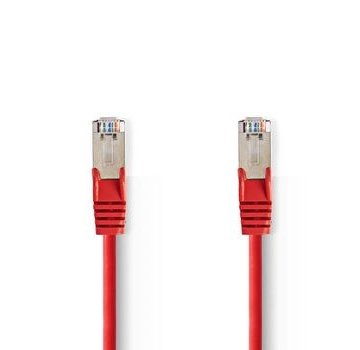 Nedis CAT5e-Kabel | SF/UTP | RJ45 (8P8C) Male | RJ45 (8P8C) Male | 0.30 m | Rond | PVC | Rood | Polybag