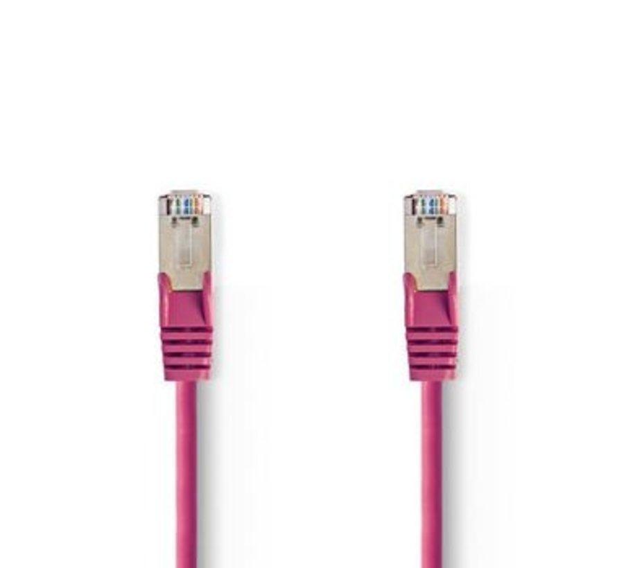 CAT5e SF/UTP-Netwerkkabel | RJ45 Male - RJ45 Male | 1,5 m | Roze