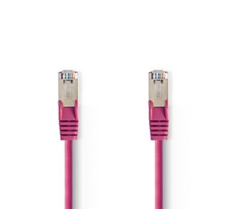 CAT5e SF/UTP-Netwerkkabel | RJ45 Male - RJ45 Male | 1,0 m | Roze
