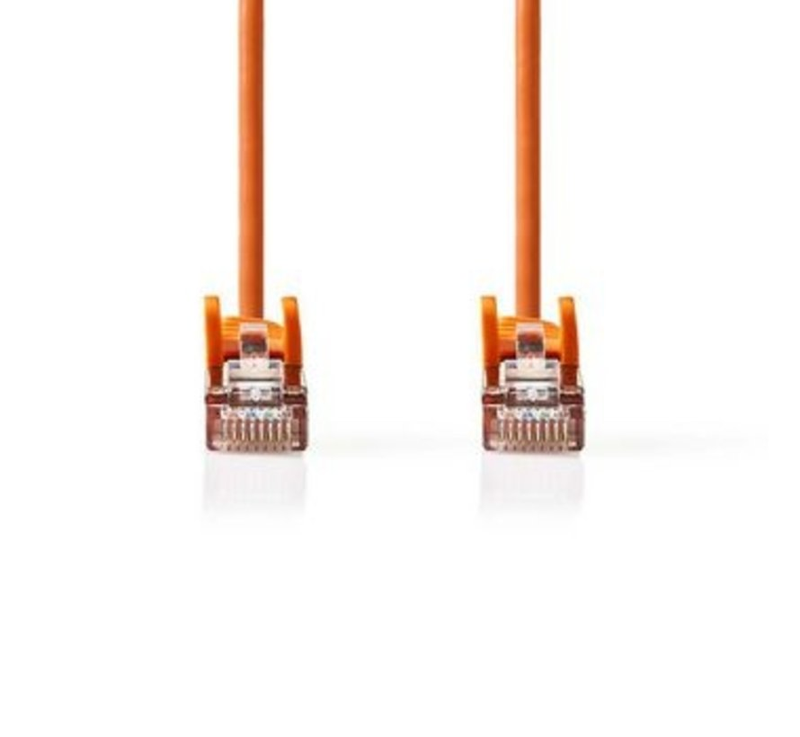CAT5e-Kabel   SF/UTP   RJ45 (8P8C) Male   RJ45 (8P8C) Male   20.0 m   Rond   PVC   Oranje   Polybag