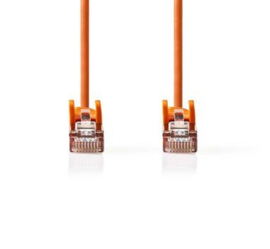 CAT5e SF/UTP-Netwerkkabel | RJ45 Male - RJ45 Male | 0,25 m | Oranje