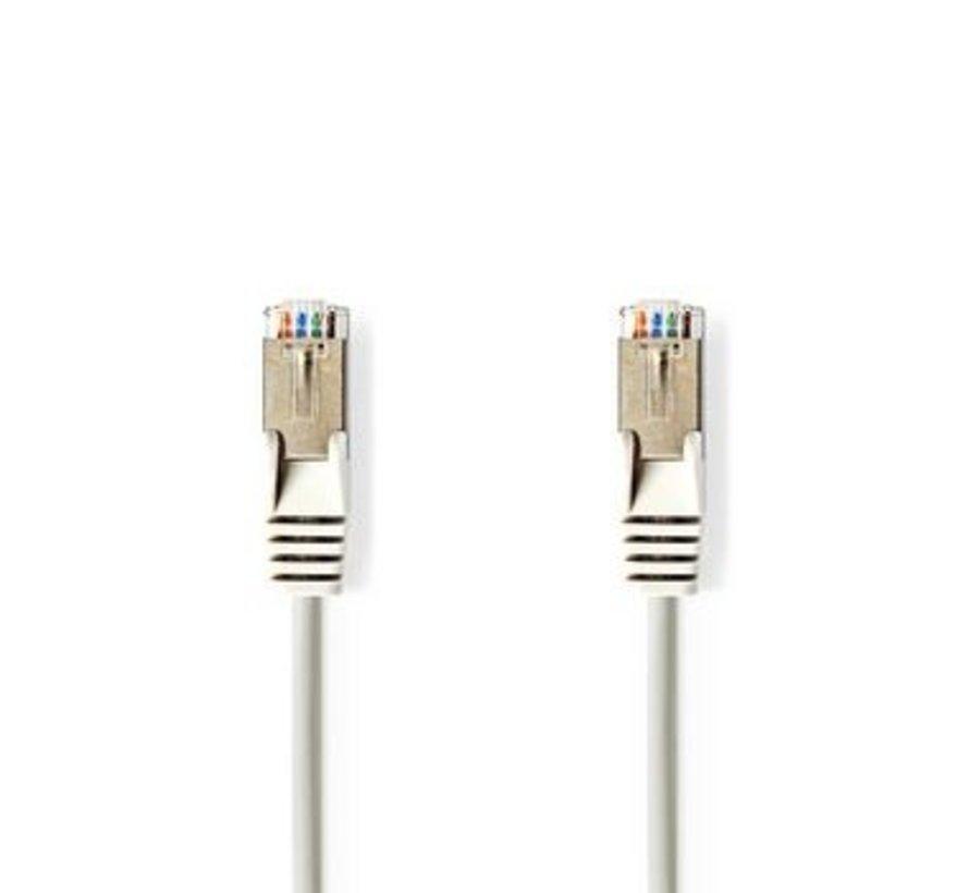 CAT5e-Kabel | SF/UTP | RJ45 (8P8C) Male | RJ45 (8P8C) Male | 7.50 m | Rond | PVC | Grijs | Polybag