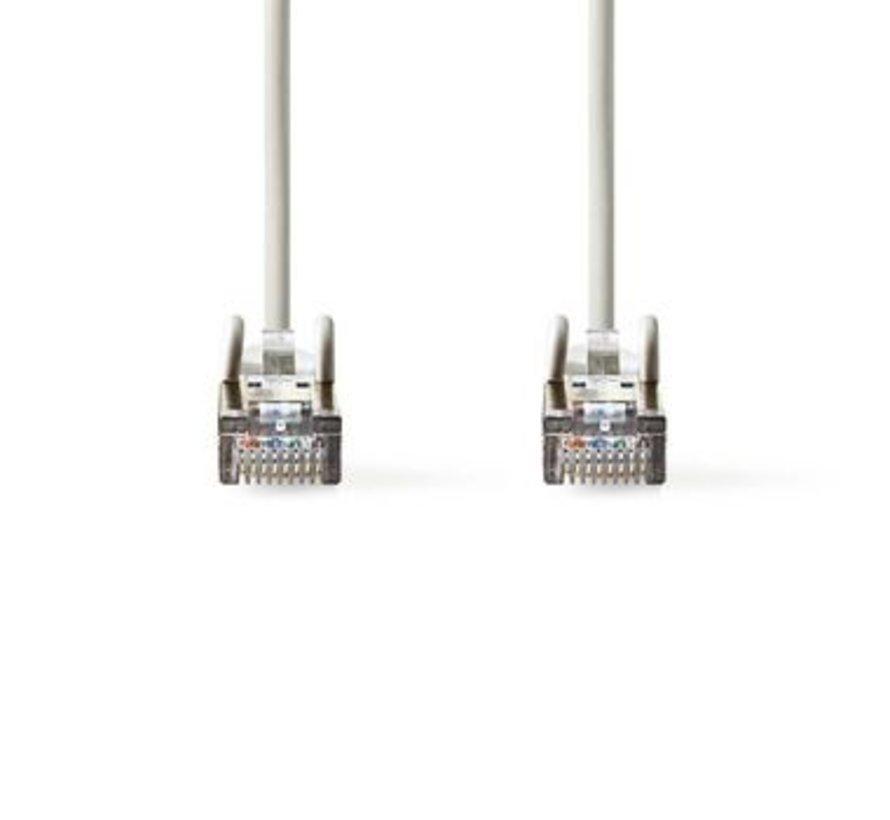 CAT5e SF/UTP-Netwerkkabel | RJ45 Male - RJ45 Male | 1,0 m | Grijs