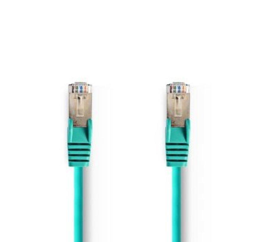 CAT5e-Kabel | SF/UTP | RJ45 (8P8C) Male | RJ45 (8P8C) Male | 3.00 m | Rond | PVC | Groen | Polybag