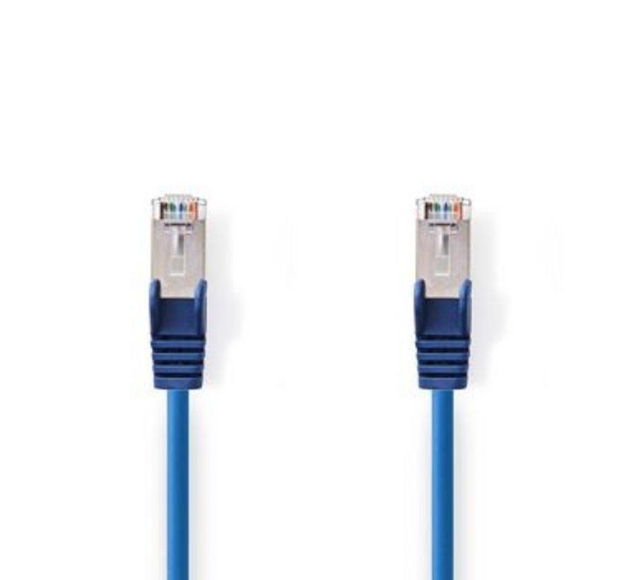 CAT5e-Kabel | SF/UTP | RJ45 (8P8C) Male | RJ45 (8P8C) Male | 5.00 m | Rond | PVC | Blauw | Polybag