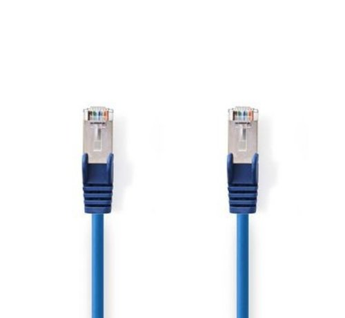 Nedis CAT5e-Kabel | SF/UTP | RJ45 (8P8C) Male | RJ45 (8P8C) Male | 1.00 m | Rond | PVC | Blauw | Polybag