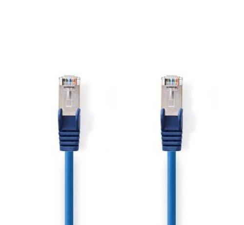 Nedis CAT5e-Kabel | SF/UTP | RJ45 (8P8C) Male | RJ45 (8P8C) Male | 0.30 m | Rond | PVC | Blauw | Polybag