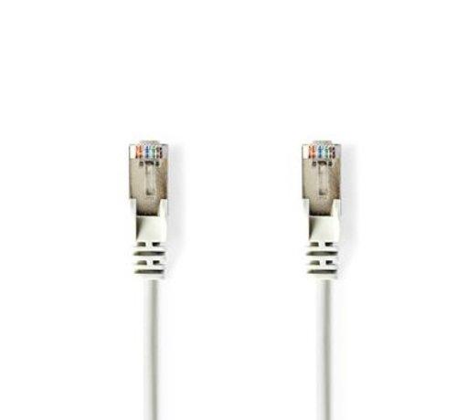 Nedis CAT5e-Kabel | S/UTP | RJ45 (8P8C) Male | RJ45 (8P8C) Male | 2.00 m | Rond | PVC LSZH | Wit | Polybag